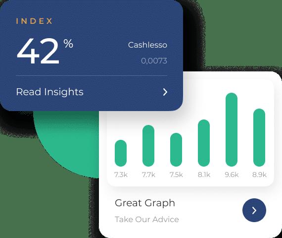 cashlesso dasboard insights